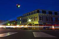 Cooperstown, New York's only traffic light. <br /> <br /> Photo by Robert Caplin
