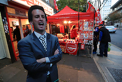 A cardboard cutout of Arsenal manager Unai Emery before the Premier League match at the Emirates Stadium, London.