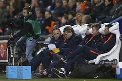 Coach Art Langeler of Jong Oranje (C) during the EURO U21 2017 qualifying match between Netherlands U21 and Andorra U21 at the Vijverberg stadium on November 10, 2017 in Doetinchem, The Netherlands