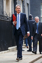 © licensed to London News Pictures. London, UK 18/03/2015. Foreign Secretary Philip Hammond attending to a cabinet meeting in Downing Street on the Budget Day, Wednesday, 18 March 2015. Photo credit: Tolga Akmen/LNP