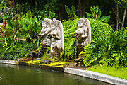 Fountain statues at the Sacred Monkey Forest Sanctuary, Ubud, Bali, Indonesia