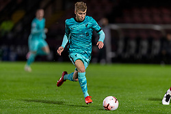 LONDON, ENGLAND - Friday, October 30, 2020: Liverpool's Jack Bearne during the Premier League 2 Division 1 match between Arsenal FC Under-23's and Liverpool FC Under-23's at Meadow Park. Liverpool won 1-0. (Pic by David Rawcliffe/Propaganda)
