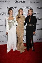November 13, 2017 - New York City, New York, USA - 11/13/17.Bella Hadid, Gigi Hadid and Yolanda Foster at The 2017 Glamour Women of the Year Awards in Brooklyn, New York. (Credit Image: © Starmax/Newscom via ZUMA Press)
