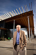 Architect Peter Bohlin, founder of Bohlin Cywinski Jackson, and winner of the AIA 2010 Gold Medal. Photographed by Brian Smale for Architectual Record Magazine, at the Ballard branch of the Seattle Public Library.