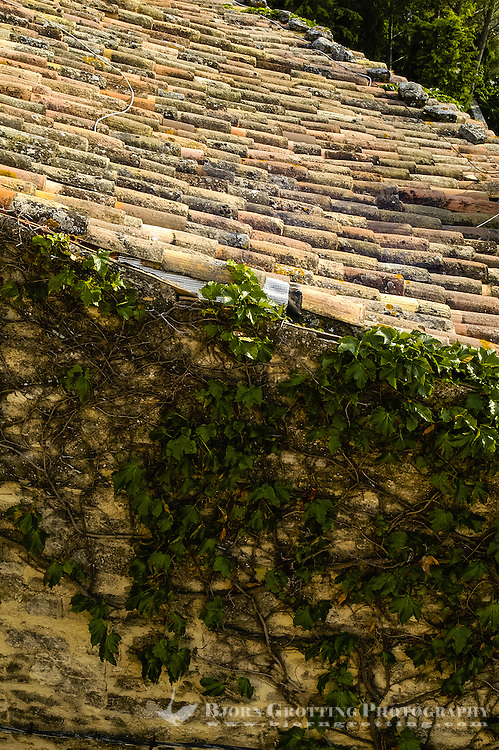 Bonnieux is one of many historic villages in Provence. It rests on top of the Luberon hills, southern France.