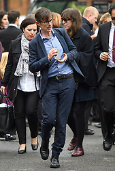 © London News Pictures. 11/05/2016. London, UK. journalist and ITV News Political Editor, ROBERT PESTON attends The funeral of his late father, Maurice Peston, Baron Peston in Golders Green, north London. Baron Peston died in April aged 85. Photo credit: Ben Cawthra/LNP