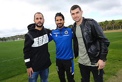 January 6, 2018 - San Roque, SPAIN - Club's former player Victor Vazquez Solsona, Club's Lior Refaelov and Club's former player Mathew Ryan pictured during day three of the winter training camp of Belgian first division soccer team Club Brugge, in San Roque, Spain, Saturday 06 January 2018. BELGA PHOTO BRUNO FAHY (Credit Image: © Bruno Fahy/Belga via ZUMA Press)