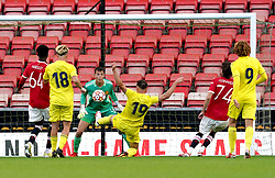 Villarreal's Marlone Foubert scores their side's third goal of the game during the UEFA Youth League, Group F match at Leigh Sports Village, Manchester. Picture date: Wednesday September 29, 2021.