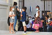 Roma, 14.09.20. Primer día de clases en la escuela Di Donato de Roma después del cierre a principios de marzo por la emergencia coronavirus.<br /> Photo: Victor Sokolowicz