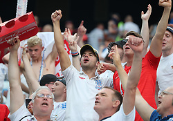 NIZHNY NOVGOROD, June 24, 2018  Fans of England celebrate victory after the 2018 FIFA World Cup Group G match between England and Panama in Nizhny Novgorod, Russia, June 24, 2018. England won 6-1. (Credit Image: © Cao Can/Xinhua via ZUMA Wire)