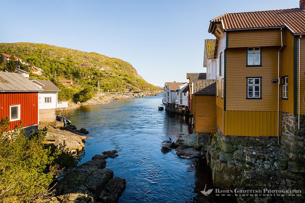 Norway, Sokndal. Sogndalstrand harbor village.