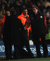 Photo: Javier Garcia/Back Page Images<br />Southampton v Middlesboro, FA Barclays Premiership, St Mary's Stadium 11/12/04<br />A devastated Harry Redknapp shakes hands with Steve Mclaren at full time