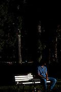 Belo Horizonte_MG, Brasil...Homem sentado na Praca da Liberdade em Belo Horizonte...A man sitting in Liberdade square in Belo Horizonte...Foto: BRUNO MAGALHAES / NITRO