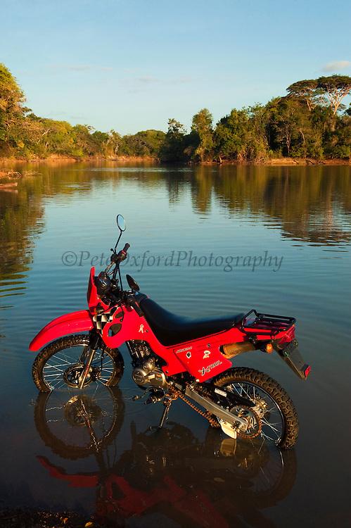 Motorbike<br /> Yupukari Amerindian Village<br /> Rupununi<br /> GUYANA<br /> South America