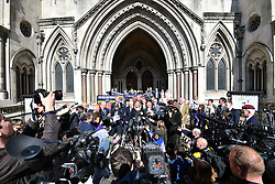 © Licensed to London News Pictures.15/03/2017.London, UK.   CLAIRE BLACKMAN, wife of Sergeant Alexander Blackman, leaves the Royal Courts of Justice in London, where a ruling was made in an appeal against the conviction of Sgt Blackman.  Also known as Marine A, Sgt Blackman is appealing a life sentence for the murder of a wounded Taliban fighter in Afghanistan in 2011.Photo credit: Ben Cawthra/LNP