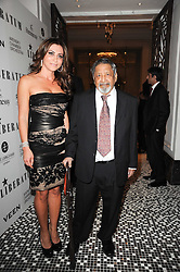 ELLA KRASNER and SIR V S NAIPAUL at the Liberatum Dinner hosted by Ella Krasner and Pablo Ganguli in honour of Sir V S Naipaul at The Landau at The Langham, Portland Place, London on 23rd November 2010.