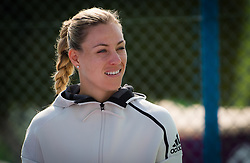 February 12, 2019 - Doha, QATAR - Angelique Kerber of Germany during a National Sports Day kids clinic at the 2019 Qatar Total Open WTA Premier tennis tournament (Credit Image: © AFP7 via ZUMA Wire)