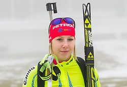 Anja Erzen during media day of Slovenian biathlon team before new season 2013/14 on November 14, 2013 in Rudno polje, Pokljuka, Slovenia. Photo by Vid Ponikvar / Sportida