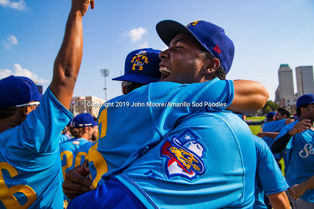 Amarillo Sod Poodles pitcher Dauris Valdez (22) against the Tulsa Drillers during the Texas League Championship on Sunday, Sept. 15, 2019, at OneOK Field in Tulsa, Oklahoma. [Photo by John Moore/Amarillo Sod Poodles]
