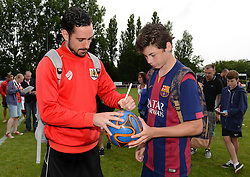 Greg Cunningham of Bristol City signs autographs  - Photo mandatory by-line: Dougie Allward/JMP - Mobile: 07966 386802 - 05/07/2015 - SPORT - Football - Bristol - Brislington Stadium - Pre-Season Friendly