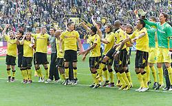 30.04.2011, Signal Iduna Park, Dortmund, GER, 1.FBL,  Borussia Dortmund vs 1. FC Nuernberg, im Bild Dortmunder Spieler mit Meisterschale vor den Fans, EXPA Pictures © 2011, PhotoCredit: EXPA/ nph/  Scholz       ****** out of GER / SWE / CRO  / BEL ******