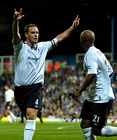 Photo: Ed Godden.<br /> Portsmouth v Bolton Wanderers. The Barclays Premiership. 25/09/2006. Bolton's Kevin Nolan (L) and El-Hadji Diouf celebrate their first goal.