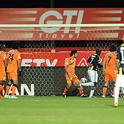 Fenerbahce's Moussa Sow goal during their Turkish Super League soccer match MP Antalyaspor between Fenerbahce at the Ataturk stadium in Antalya Turkey on Sunday 17 March 2013. Photo by TURKPIX
