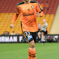 BRISBANE, AUSTRALIA - OCTOBER 7: Joey Katebian of the Roar warms up during the round 1 Hyundai A-League match between the Brisbane Roar and Melbourne Victory at Suncorp Stadium on October 7, 2016 in Brisbane, Australia. (Photo by Patrick Kearney/Brisbane Roar)