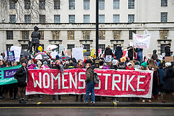 "© Licensed to London News Pictures. 21/01/2018. London, UK. Women campaign for gender equality at the ""Time's Up"" rally, outside Downing Street. Photo credit : Tom Nicholson/LNP"