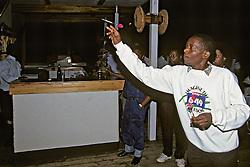 Man Playing Darts At Nkopola Lodge