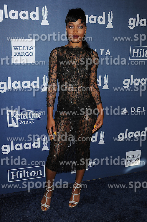 Keke Palmer, 27th Annual GLAAD Media Awards, at The Beverly Hilton Hotel, April 2, 2016 - Beverly Hills, California. EXPA Pictures © 2016, PhotoCredit: EXPA/ Photoshot/ Celebrity Photo<br /> <br /> *****ATTENTION - for AUT, SLO, CRO, SRB, BIH, MAZ, SUI only*****