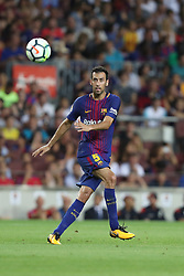 August 7, 2017 - Barcelona, Spain - Sergio Busquets of FC Barcelona during the 2017 Joan Gamper Trophy football match between FC Barcelona and Chapecoense on August 7, 2017 at Camp Nou stadium in Barcelona, Spain. (Credit Image: © Manuel Blondeau via ZUMA Wire)