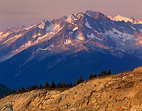 Selkirk Mountains in evening light British Columbia Canada