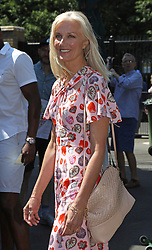 Joely Richardson arrives on day two of the Wimbledon Championships at the All England Lawn Tennis and Croquet Club, Wimbledon.