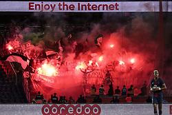 September 14, 2018 - Paris, Ile de France, France - Supporters ultra du club de foot de l AS SAINT ETIENNE (Credit Image: © Panoramic via ZUMA Press)