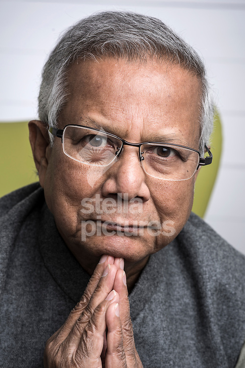 Bangladeshi social entrepreneur, banker, economist, and civil society leader, Professor Muhammad Yunus pictured at the offices of his publisher in central London.<br /> Yunus recently had his current book, A World of Three Zeroes, published.<br /> Picture by Daniel Hambury/Stella Pictures Ltd 07813022858