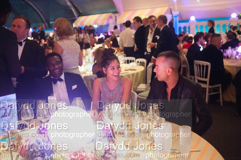 ELIZA DOOLITTLE; JULIAN MACDONALD, Grey Goose Winter Ball to benefit the Elton John Aids Foundation. Battersea Power Station. London. 10 November 2012.