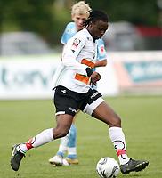Fotball <br /> Adeccoligaen<br /> Hønefoss Idrettspark<br /> 17.09.08<br /> Hønefoss BK  v  Sandnes Ulf  2-2<br /> <br /> Foto: Dagfinn Limoseth, Digitalsport<br /> Umaru Bangura , Hønefoss