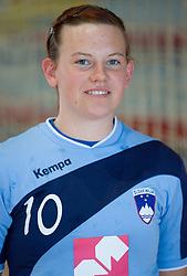 Portrait of Jana Bacar of Slovenian Handball Women National Team, on June 3, 2009, in Arena Kodeljevo, Ljubljana, Slovenia. (Photo by Vid Ponikvar / Sportida)