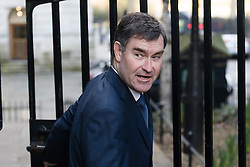 © Licensed to London News Pictures. 28/02/2017. LONDON, UK.  Chief Secretary to the Treasury, David Gauke arrives for a cabinet meeting at 10 Downing Street.  Photo credit: Vickie Flores/LNP