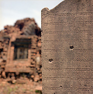 Champa writings, My Son Sanctuary, Quang Nam Province, Vietnam, Southeast Asia