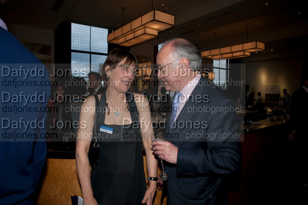 CAROLINE WALDEGRAVE; MICHAEL HOWARD, Literary charity First Story fundraising dinner. Cafe Anglais. London. 10 May 2010. *** Local Caption *** -DO NOT ARCHIVE-© Copyright Photograph by Dafydd Jones. 248 Clapham Rd. London SW9 0PZ. Tel 0207 820 0771. www.dafjones.com.<br /> CAROLINE WALDEGRAVE; MICHAEL HOWARD, Literary charity First Story fundraising dinner. Cafe Anglais. London. 10 May 2010.