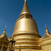 Golden stupa of Wat Phra Kaew in Grand Palace complex, Bangkok