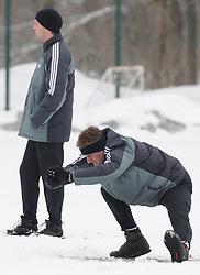 Franc Cifer, coach of ND Mura 05 exercise during the Training on February 22, 2013 in Fazanerija, Murska Sobota, Slovenia. (Photo By Ales Cipot / Sportida.com)