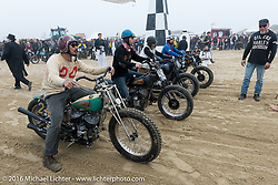 Go Takamikne on his Indian Chute with 3 other racers at TROG West - The Race of Gentlemen. Pismo Beach, CA, USA. Saturday October 15, 2016. Photography ©2016 Michael Lichter.