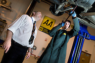 UK. Scotland. Glasgow. LAGTA Ltd, Training Provider for the automotive and logistics industries in Scotland, at their Eurocentral centre of excellence..Photo©Steve Forrest/Workers Photos