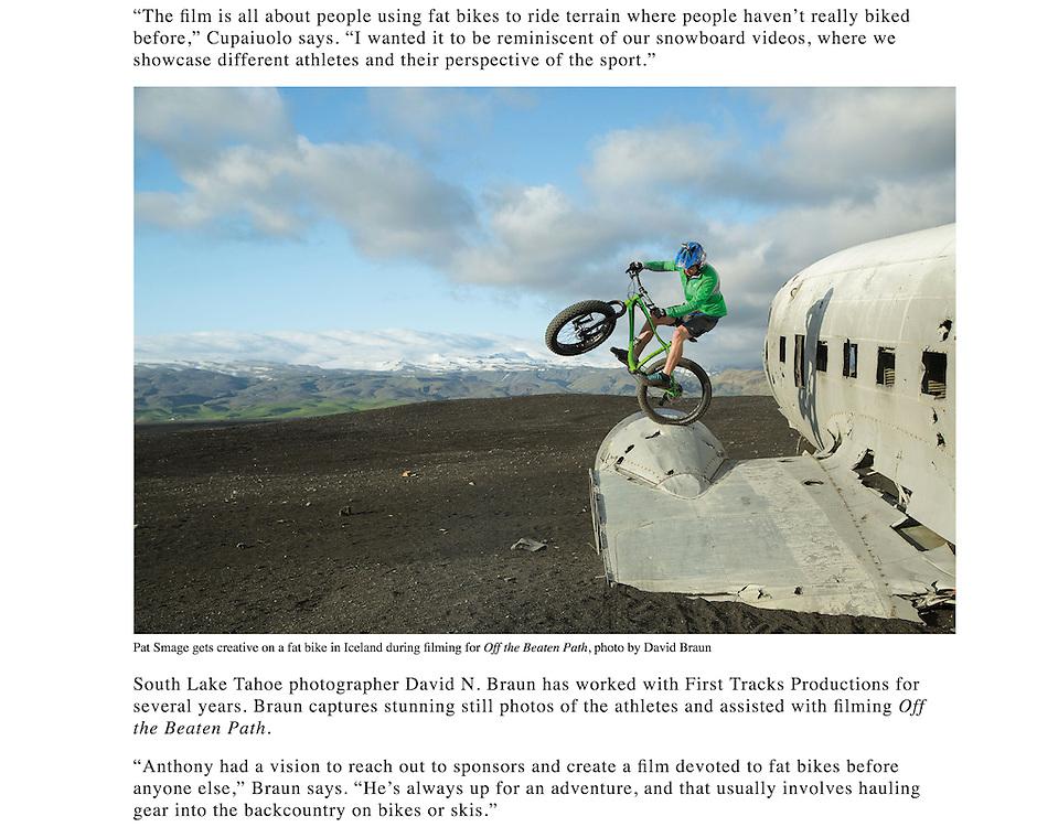 """Image: """"Sólheimasandur Engine Bounce""""<br /> Athlete:  Pat Smage"""