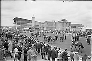 30/06/1962 <br /> 06/30/1962<br /> 30 June 1962<br /> Irish Sweeps Derby at the Curragh Racecourse, Co. Kildare. General view of the  Saddling Enclosure at the Curragh. Image not for the Sweeps Derby but a different race that day.