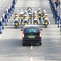 The guard of honour lined almost all the way from 1 Military Hospital to the Union Buildings in Pretoria where former President Nelson Mandela's body is lying in state.His body will be in state for 3 days. Mandela was the first democratically elected president of South Africa.