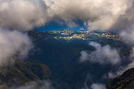 Small village in a frame of clouds